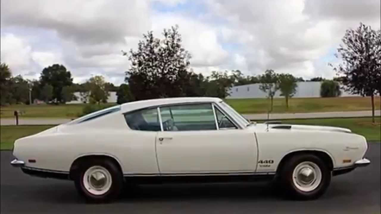 1969 Plymouth Barracuda Fastback 440 375 Hp Youtube