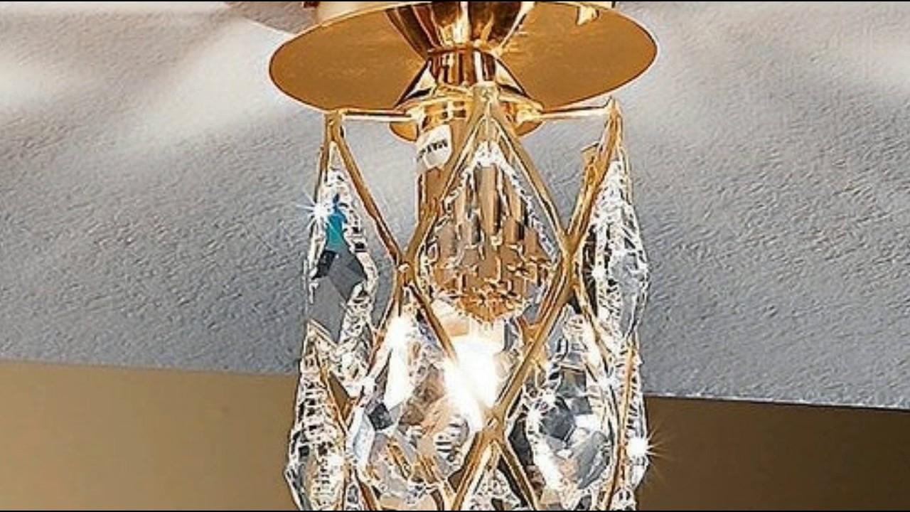 badezimmer deckenleuchte kristall moderne deckenleuchte aus kristall led youtube. Black Bedroom Furniture Sets. Home Design Ideas