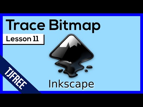 Inkscape Lesson 11 - Trace Bitmap Tool (Convert Raster To SVG)