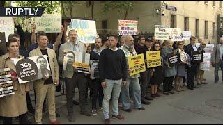 365 дней в тюрьме: у здания посольства Украины в Москве прошёл митинг в поддержку Кирилла Вышинского