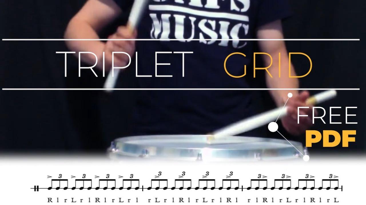 triplet grid snare drum exercise youtube. Black Bedroom Furniture Sets. Home Design Ideas