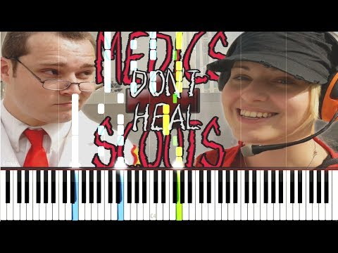 Medics Don't Heal Scouts - Random Encounters [Synthesia Piano Tutorial]