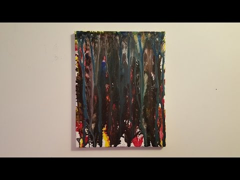 "Abstract Painting Art Demo - ""Liquid #4"" Embrace The Matrix"