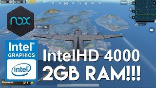PUBG Mobile: Intel Core i3-3217U 1.8Ghz | IntelHD 4000 | 2GB RAM!!!
