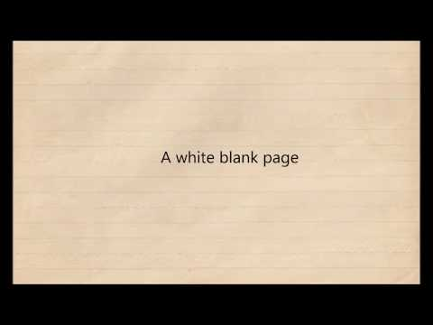 Mumford and sons- White blank page instrumental