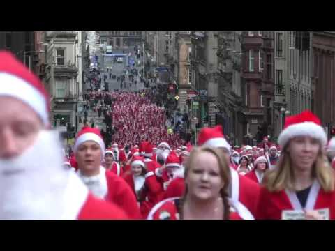 Glasgow's Santa Dash 2016