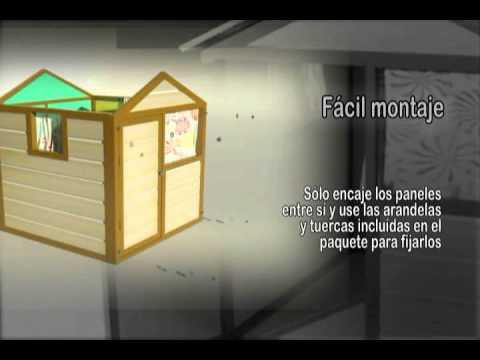 Casita para juegos infantil de - Machimbrado leroy merlin ...