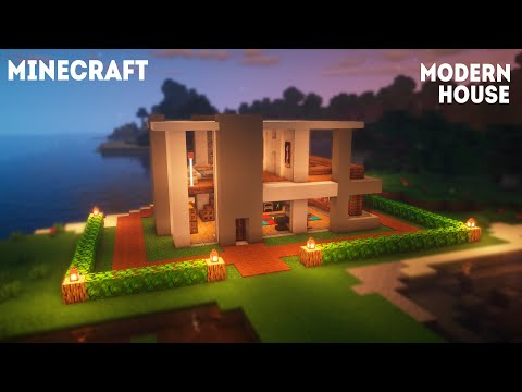 How to build: Modern House | Minecraft Tutorial