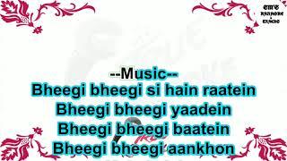 Bheegi Bheegi    Gangster    Karaoke    Track    Instrumental    With Lyrics    James    HD