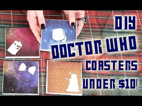 Doctor Who Coaster set! Great Gift DIY for under $10 ...