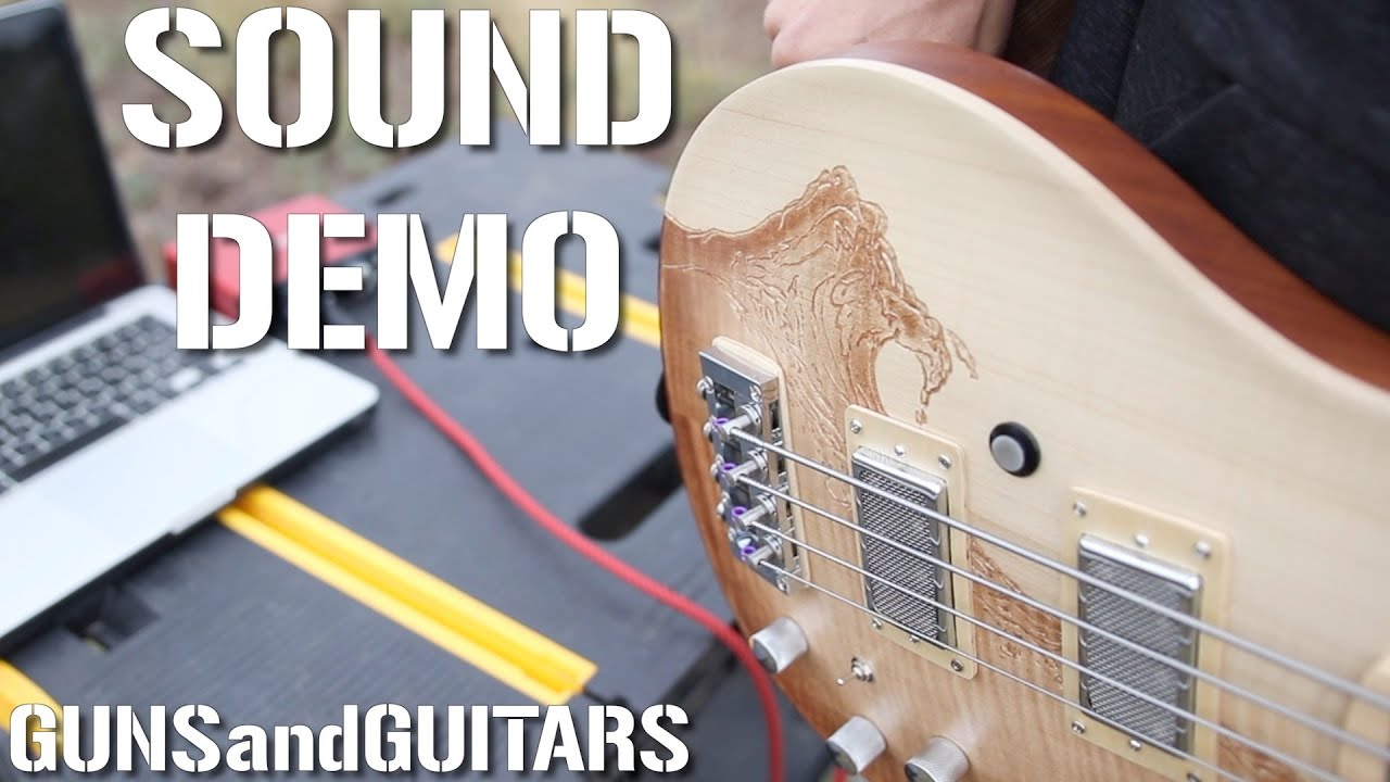 Great Guitar Build-off SOUND DEMO (PRS style BASS) series/parallel double P bass