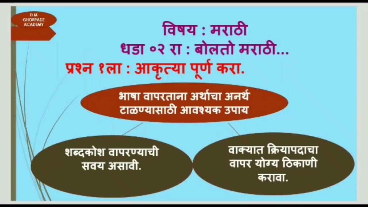 10 Class Marathi Book