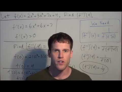 Finding the Derivative of an Inverse Function - Calculus I