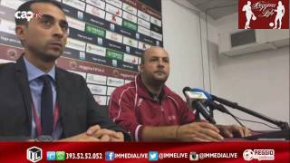 Reggina-Siracusa Mr. Zeman in conferenza stampa Post partita (06/11/2016)
