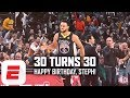 Relive Steph Curry's basketball career in one minute as the Warriors' cornerstone turns 30 | ESPN