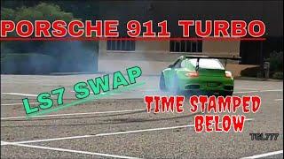 Porsche 997 911 Turbo, Chevrolet LS7 Swap TK Autosports GREEN MONSTER