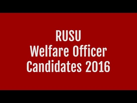 Welfare Officer @ Candidates' Question Time 2016