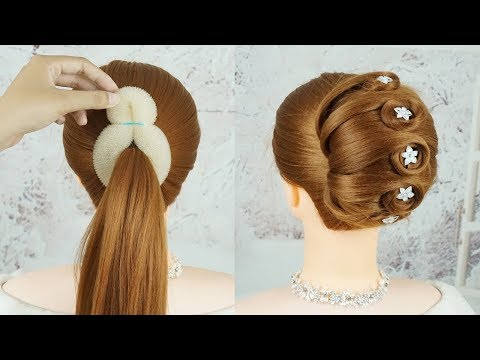 Easy French Roll Hairstyle With Clutcher – French Bun Hairstyle Trick | Easy Hairstyles For Party thumbnail