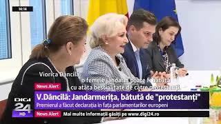 Jandarmerita batuta de protestanti! Declaratie audio. O noua gafa marca Viorica Dancila