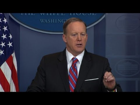 Spicer to reporter: 'Stop shaking your head'