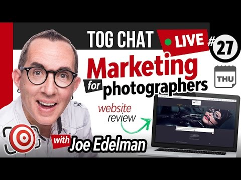🔴 LIVE TogChat™ #27 - Marketing for Photographers - Tips,  Website and Social Media Reviews