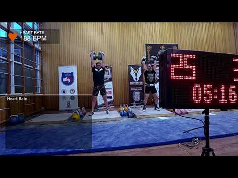 no sound Andy Lamb British Championships 2017 Double 24kg LC 34 reps