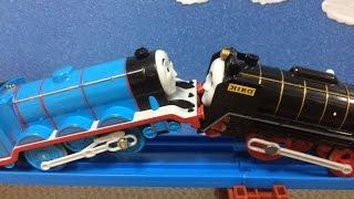 きかんしゃトーマス プラレール トーマスとパーシー どっちが強いか競争だ!! Thomas&Friends Plarail Trackmaster ヒロ ゴードン