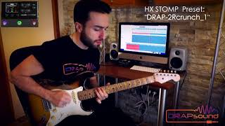 "Commercial Preset: ""DRAP-2Rcrunch_1"" for HX STOMP (isolated track)"