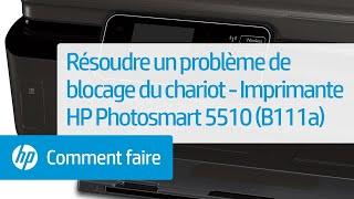Résoudre un problème de blocage du chariot - Imprimante e-tout-en-un HP Photosmart 5510 (B111a)