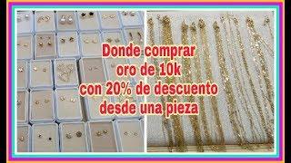 Donde comprar oro de 10k con 20% de descuento!