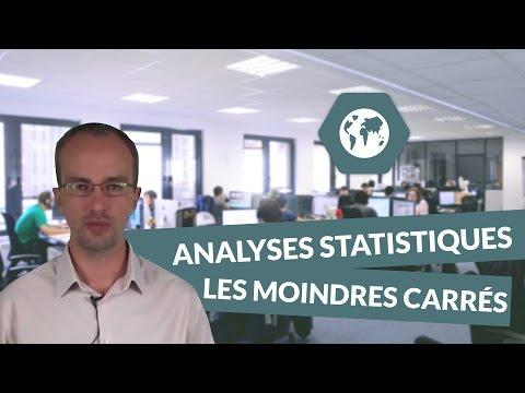 Les analyses statistiques : Les moindres carrés, exemple - BTS CI