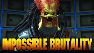 "PREDATORS IMPOSSIBLE BRUTALITY - Mortal Kombat X ""Predator"" Gameplay (MKX Online Ranked)"