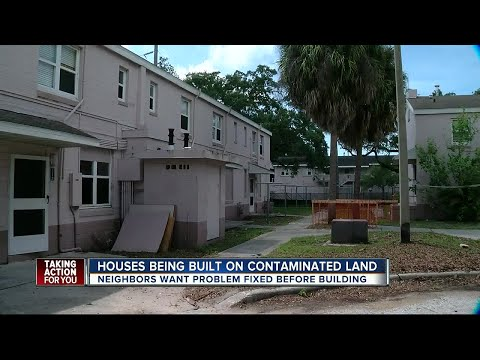 Houses being built on contaminated land in Tampa's West Rive
