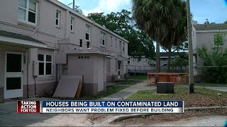 Houses being built on contaminated land in Tampa's West River
