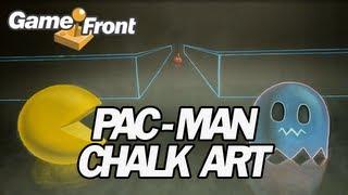 PAC-MAN Stop Motion 3D Chalk Art