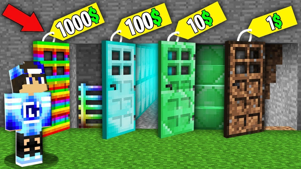 KTÓRE TO DRZWI ZA 1$ VS 10$ VS 1000$ W MINECRAFT !