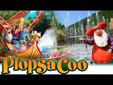 Plopsa Coo 2015 Park Video - Watervallen van Coo - Dino Splash, Vicky the Ride, Maya Splash,...