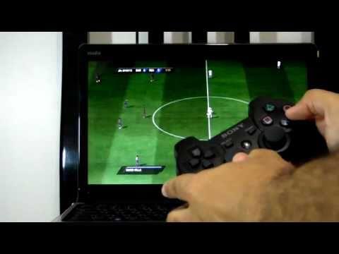 Jogando Em Notebook Com Controle De Ps3 Via Bluetooth