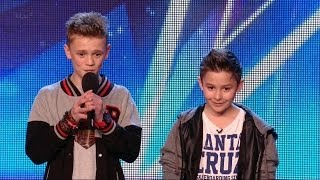 Download Video Britain's Got Talent S08E05 Bars & Melody Duo Rap an original anti-bullying song Simon surprise MP3 3GP MP4