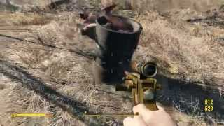 Self Propelled Perpetual Motion Spinning Torso Barrel #Fallout4 Funny Glitch