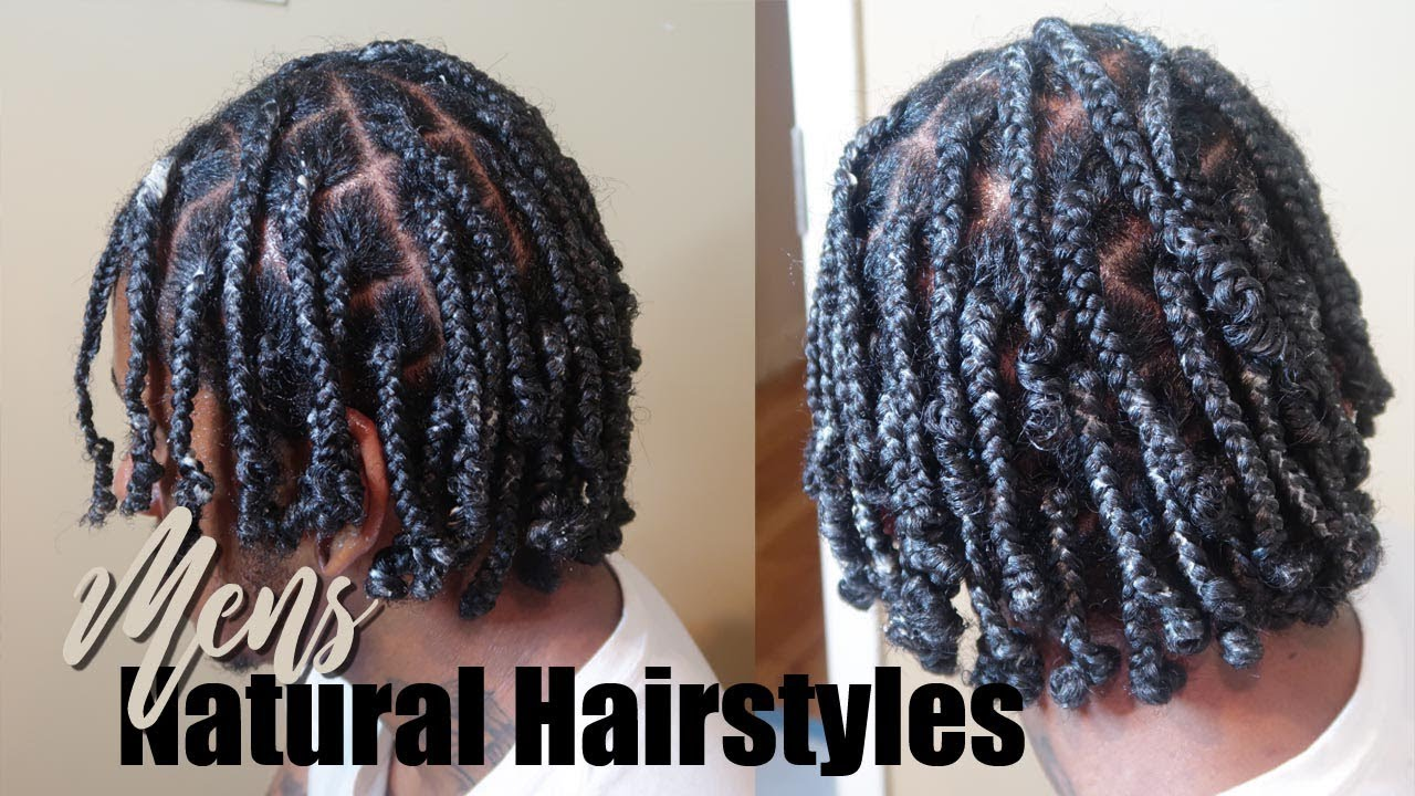 Mens Box Braids Natural Hairstyles Protective Hairstyles Youtube