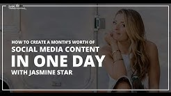 [EP 12] How To Create a Month of Social Media Content in One Day with Jasmine Star