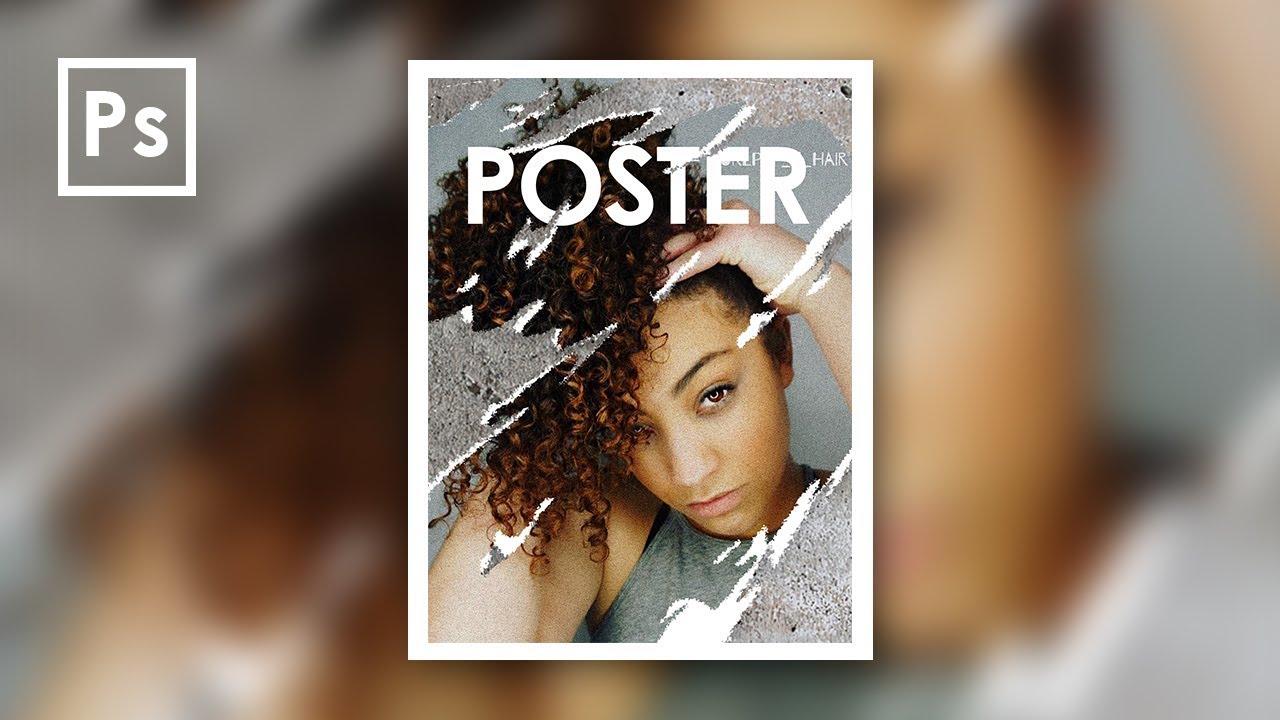 Cara Edit foto Efek Textur Robekan Kertas Poster di ...