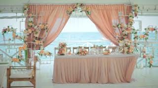 видео Оформление свадьбы в бело-золотой гамме