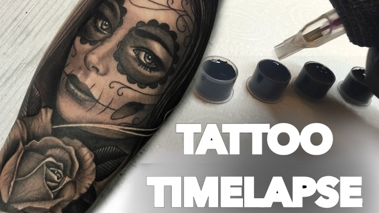 Great Horned Owl Black And Grey Tattoo TATTOO TIME LAPSE / RO...