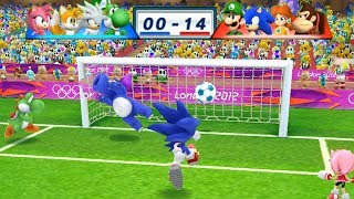 Mario & Sonic At The London 2012 Olympic Games Football Lugi, Sonic, Daisy and Donkey Kong