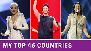 Eurovision 2010-2019   My Top 46 COUNTRIES
