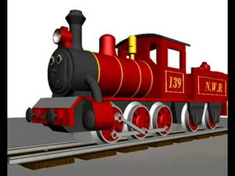 Animated 3D Steam Train test