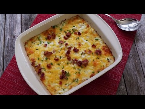 How to Make Twice-Baked Cauliflower with Bacon | Side Dish Recipes | Allrecipes.com