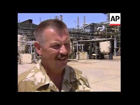 Main oil refinery near Basra at 50 percent capacity